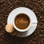 Still life - coffee wtih text Asia — Stock Photo #77072161