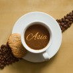 Still life - coffee wtih text Asia — Stock Photo #77775552