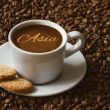 Still life - coffee with text Asia — Stock Photo #78355304