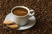 Still life - coffee with text Cuba — Stock Photo
