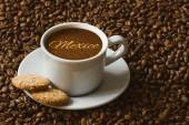 Still life - coffee with text Mexico — Stock Photo