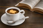 Still life - coffee with map of Colombia — Stock Photo