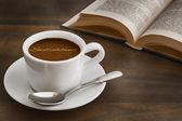 Still life - coffee with text Switzerland — Stock Photo