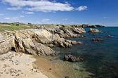 Rocky Coastline of South of Yeu Island — Stock Photo