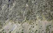 Vertical mountain slope background — Stock Photo