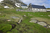 Refuge and farmers house in Maillet plateau in French Pyrenees — Stock Photo