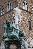 Florence: Neptune Fountain — Stock Photo