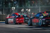 Porsche GT3 racing cars — Stock Photo