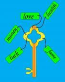 Nyckel. — Stockvektor