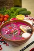 Sour milk cold soup — Stock Photo