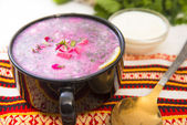 Sour milk cold soup — Stock Photo