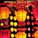 Colorful International Lanterns at Loi Krathong (Yi Peng) Festival — Stock Photo #70504189