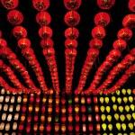 Colorful International Lanterns at Loi Krathong (Yi Peng) Festival — Stock Photo #70504507