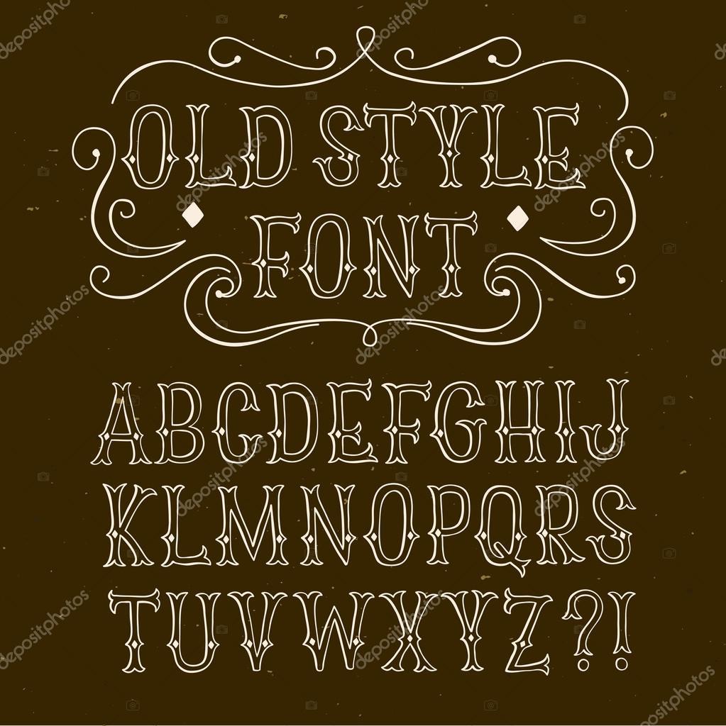 Hand Drawn Old Style Font Stock Vector Shtonado 101048412