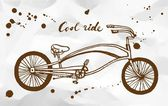 Cruiser bike sketch — Vector de stock