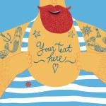 Постер, плакат: Mighty seamans chest with tattoos