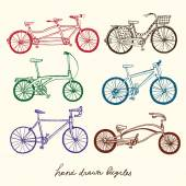 Bicycle types set — Stock Vector