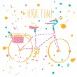 Colorful city bicycle — Stock Vector #64638517