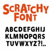 Scratchy funny font — Stock Vector
