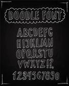 Doodle 3D vector font — Stock Vector
