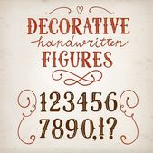 Vintage  vector figures — Cтоковый вектор