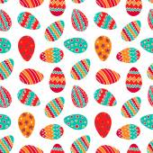 Hand rawn easter egg pattern — Stock Vector