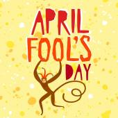 April Fools Day illustration — Stock Vector