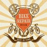 Vintage bicycle  repair logo — Stock Vector #74166329
