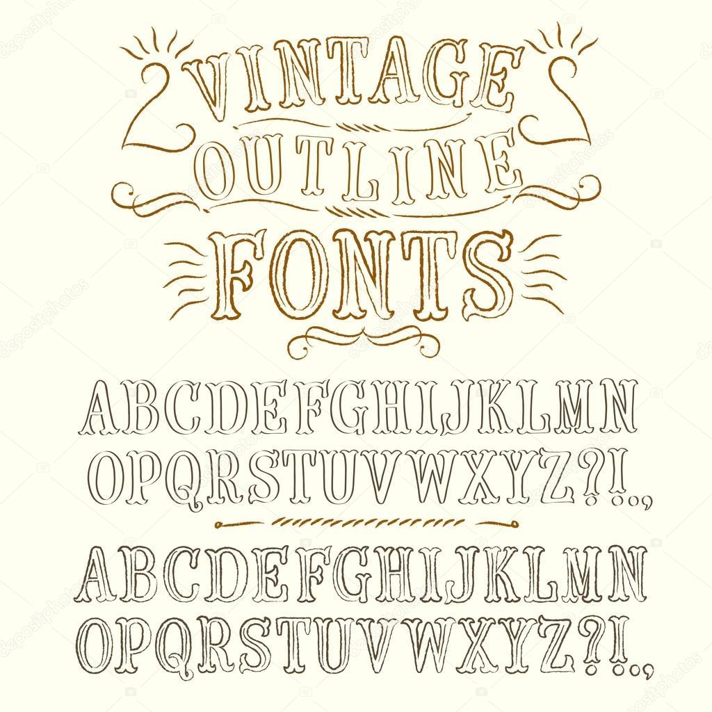 alte handschriftliche vektor schriften reihe stockvektor shtonado 74166313. Black Bedroom Furniture Sets. Home Design Ideas