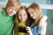 Children taking selfie — Stock Photo