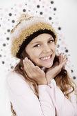 Girl in hat posing — Stock Photo