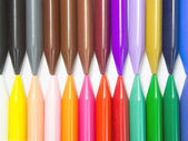 Full color crayon horizontal head to head — Stock Photo
