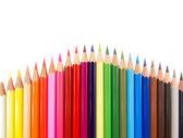 Slim crayons convex arrangement — Stock Photo