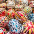Traditional romanian handcrafted nicely decorated easter eggs — Stock Photo #69471503