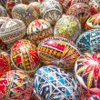 Traditional romanian handcrafted nicely decorated easter eggs — Stock Photo #69471505