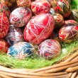 Traditional romanian handcrafted nicely decorated easter eggs — Stock Photo #69471521