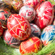 Traditional romanian handcrafted nicely decorated easter eggs — Stock Photo #69471539