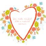 Vector Floral Frame heart — Stock Vector #62144591
