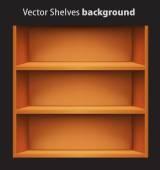 Editable vector bookshelves — Stock Vector