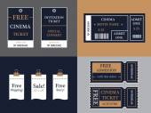 Vector ticket set — Stock Vector