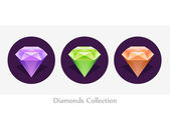 Diamond vector illustration — Stock Vector
