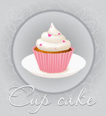Cupcake Isolated On Background — Stock Vector