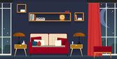 Interior-living room — Stock Vector