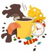 Сoffee  breakfast — Stock Vector