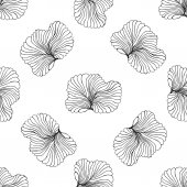 Seamless monochrome pattern vector illustration — Stock Vector