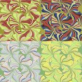 Set of seamless patterns vector illustration — Stock Vector