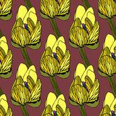 Seamless floral pattern vector illustration — Stock Vector