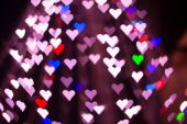 Heart bokeh background. Valentine's day background — Stock Photo