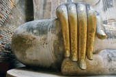 Buddha in Sukhothai Thailand — Stock Photo