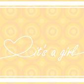 "Baby card ""It's a girl"" — Stock Vector"
